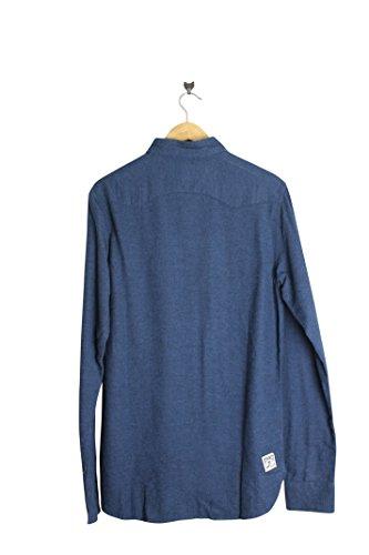 DC Herren Freizeit-Hemd Blau Blau