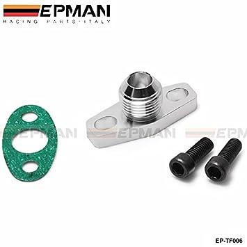 epman Turbo aceite retorno/drenaje Brida Adaptador AN10 Garrett GT28 GT30 GT35 T25 ep-tf006: Amazon.es: Coche y moto