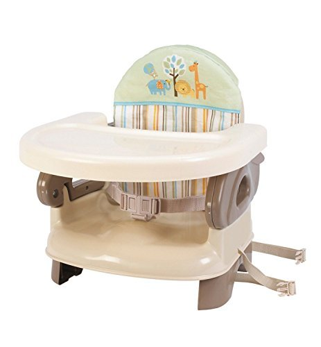 Summer Infant Deluxe Comfort FEEDING SEAT, 2 in 1 Folding Infant BOOSTER, Tan Deluxe Booster