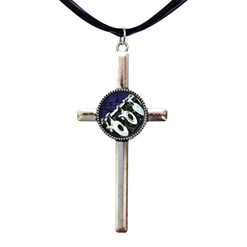 (GiftJewelryShop Flute Music Retro Style Cross Pendant Charm Necklaces)