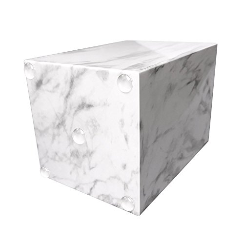 Umiko Decorative Unique Modern White Marble Design Pen and Pencil Cup Holder Stand Organizer Box Case for Desk Home Office Officemate Desktop Classroom School by Umiko (Image #1)