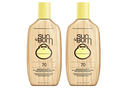 Price comparison product image Sun Bum Moisturizing HiQuQ Sunscreen Lotion, SPF 70 (2 Pack)