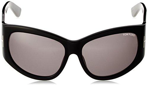 Tom Felicity in 61 Black FT0404 Ford 01A 61 Shiny Grey Sunglasses SxPF5Srwn
