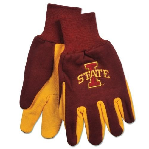 NCAA Iowa State Cyclones Two-Tone Gloves, Yellow/Red
