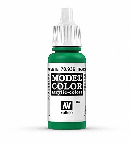 Vallejo Transparent Green Paint, 17ml