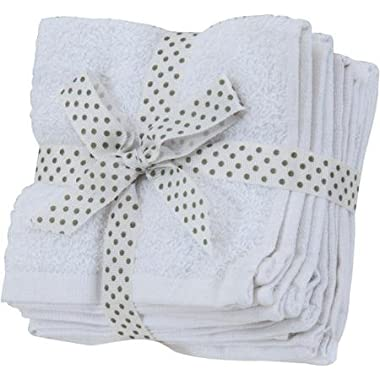 100% Cotton Wash Cloths (24 Pack, 12 x 12 Inch) Highly Absorbent Multi-Purpose Extra Soft Face, Hand, Gym, Spa Towels By Utopia Towels