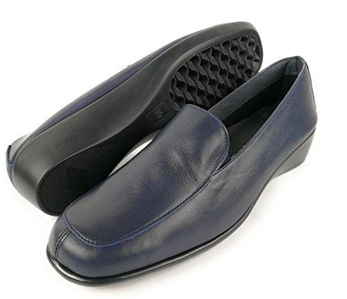 pour Cuir Chaussures Confort Bleu Marine Femme Chaussures en Femme Zerimar Femme Chaussures tq0UwAUEa