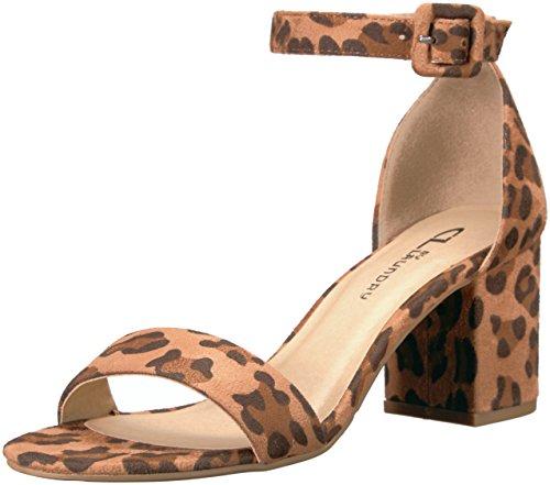 CL by Laundry Women's Jody Leopard Sued Dress Sandal - Ca...