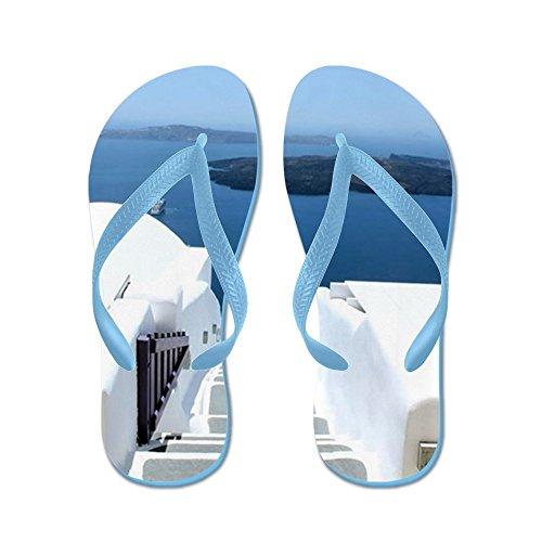 Cafepress Trappa Som Leder Till Havet - Flip Flops, Roliga Rem Sandaler, Strand Sandaler Caribbean Blue