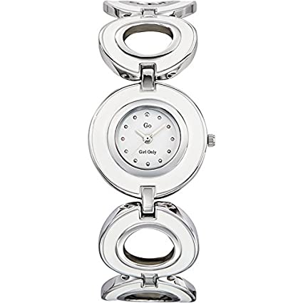 GO, Girl Only Glamour Analogue White Dial Women's Watch - 694069