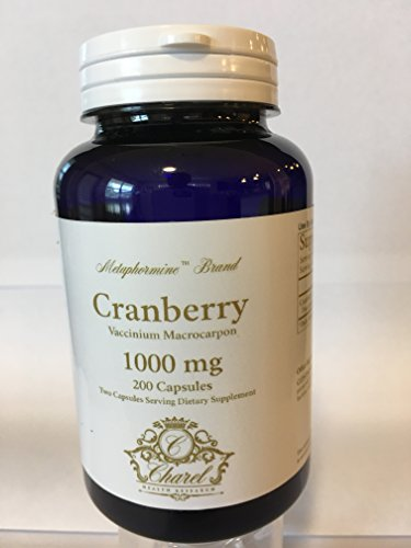 Metaphormine | Cranberry Fruit Extract 1000mg Antioxidant Capsules | Dietary Supplement For Kidney Infection | Works as Diuretic | Capsules Fortified With Vitamin C, E & K | Gluten Free | 200 Capsules by Metaphormine