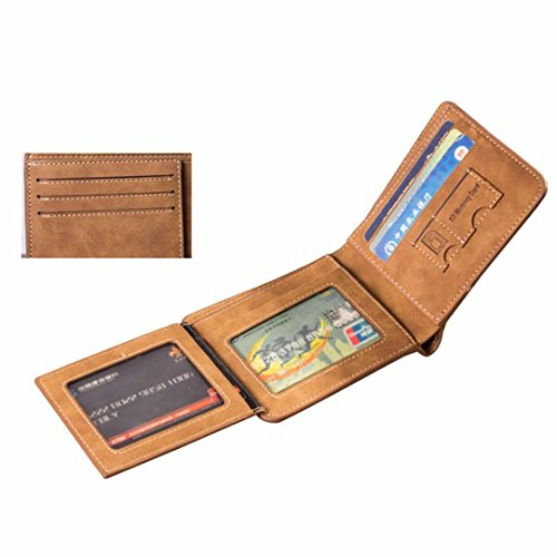 3267ade6b2d well-wreapped Sankuwen Men Card Receipt Holder SIM TF Card Organizer  Leather Wallet