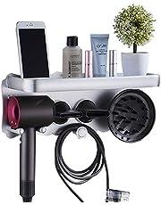 Hair Dryer Holder, Multifunctional Wall Mounted Hair Dryer Holder Bathroom Storage Organizer for Dyson Supersonic Hair Dryer
