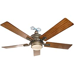 Emerson Ceiling Fans CF880VS Amhurst Indoor Ceiling Fan With Light And Wall Control, 54-Inch Blades, Vintage Steel Finish