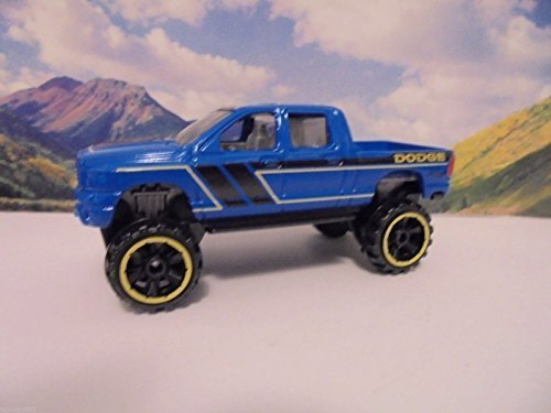 Hot Wheels, 2016 HW Hot Trucks, Dodge Ram 1500 [Blue] Exclusive - Ram Wheels Hot Dodge