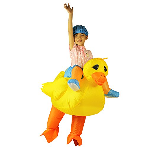 Duck Fancy Dress Costumes (Inflatable Duck Costume For kids Child Duckie Fancy Dress Halloween Chiristmas)