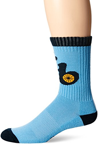 MLB Tampa Bay Rays Men's Bolt Sport Casual Dress Crew Socks (1 Pack), Large, Columbia
