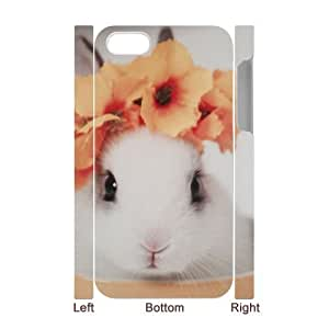 Cute rabbit CUSTOM 3D Cover Case for iPhone 5/5s LMc-34716 at LaiMc