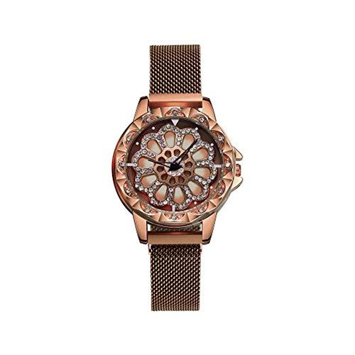 Net red Magnet Watch, Women's Watch, time to Run Watch, Waterproof net with Watch, Smart Watch, case, Strap, Fossil Watch, Waterproof Watch, Gadget Watch, New Watch,-Coffee
