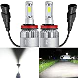 HSUN H11 H8 H9 LED Headlight Bulbs,Super Bright 8000 Lumens All-in-One Conversion Kit,Replace