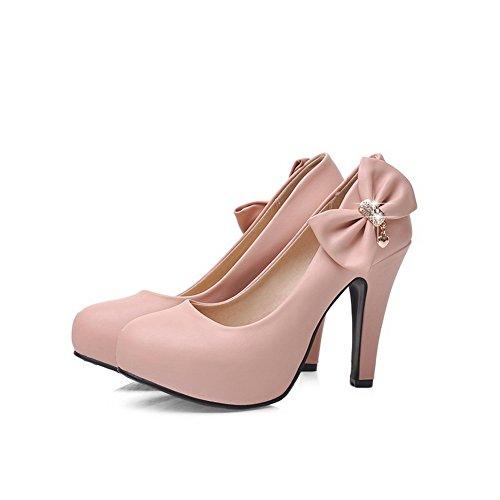 No Moda Adeesu Sdc03668 Da Sposa Urethane In Pompe Uretano Rosa closure Piattaforma Womens Scarpe 5f5rqWI