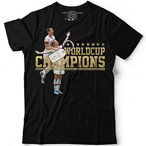 World Cup Champions Shirt For Women Hugging Winner Soccer Customized Handmade T-Shirt Hoodie/Long Sleeve/Tank Top/Sweatshirt ()