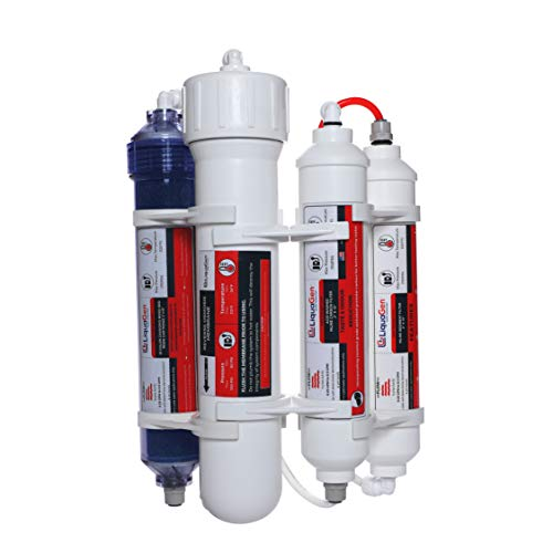 LiquaGen - 4 Stage Reverse Osmosis/Deionization (RO/DI) Portable Space Saver Water Filter System (100 GPD) from LiquaGen
