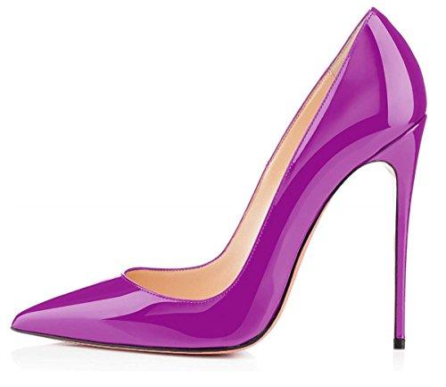 Sammitop Women's Classic Pointed Toe Pumps High Heel Stilettos Slip On Dress Shoes