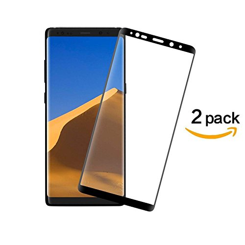 [2-Pack] DeFitch Galaxy Note 8 Screen Protector, Full Coverage Anti-Scratch, Anti-Fingerprint, Easy to Install Curved Tempered Glass Screen Protector for Samsung Galaxy Note 8 (Full Curved)