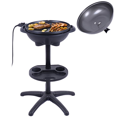 Electric BBQ Grill 1350W Non-stick 4 Temperature Setting Outdoor Garden Camping + FREE E-Book
