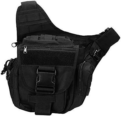 Bascar Messenger Bag Sling Pack Fishing Tackle Bag One Shoulder Bag Multi-Functional Retro Outdoor Sports Mochila Sling Bag Umhängetasche Schultertasche Viajes Paseos Daypack Cross Bag, Negro: Amazon.es: Deportes y aire libre