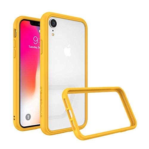 (RhinoShield Ultra Protective Bumper Case for [ iPhone XR ] CrashGuard NX, Military Grade Drop Protection for Full Impact, Slim, Scratch Resistant, Yellow)