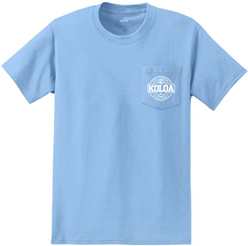 Joes Usa Koloa Surf Pocket Tee Dawn Patrol Logo Heavyweight Cotton T Shirt Liteblue W 4Xl