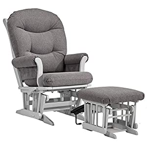 Dutailier SLEIGH 0392 Glider Multiposition-lock Recline with Nursing Ottoman Included