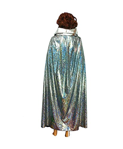 [Unisex-adult Halloween Costumes Wizard Cloak God of Death Cape Robe Shiny Ball (Large, Silver)] (L Costume Death Note)