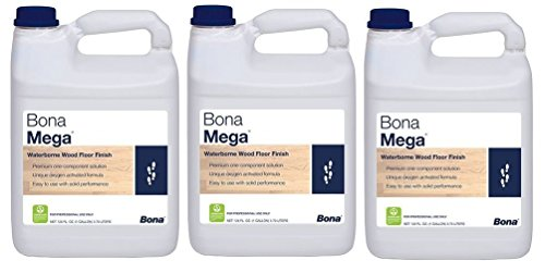 Bona Mega Wood Floor Finish Satin Contractor Pack 3 ()