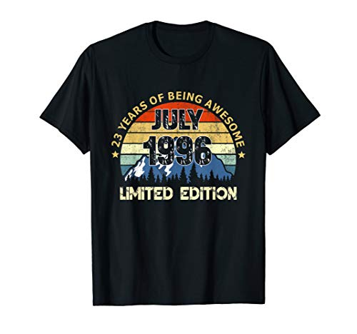 Born In July 1996 23 Years Old 23rd Birthday Gift T-Shirt