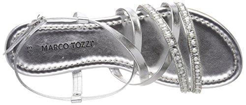 Sandali Con Tozzi Marco Argento silver Alla 28139 Caviglia Donna Cinturino 1wAqWEFxZq