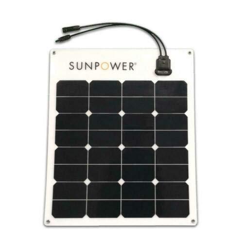 SunPower® 50 Watt Flexible Monocrystalline High Efficiency Solar Panel (Best Rated Solar Panels)