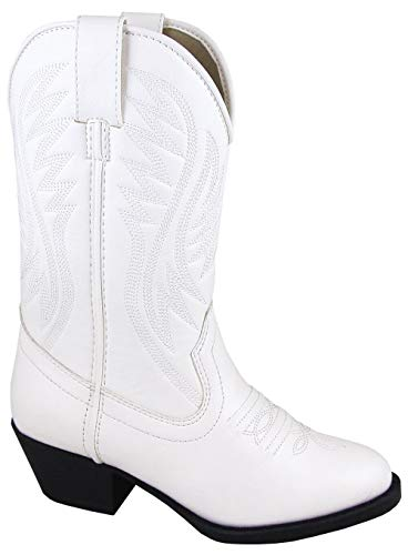 (Smoky Mountain Girls' Mesquite Western Boot Round Toe White 10.5 D)