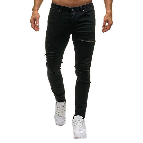 Pantalones Largos Para Hombre Slim Jeans Para Hombre Vaqueros Hombres Rotos Jeans Rotos De Los Hombres