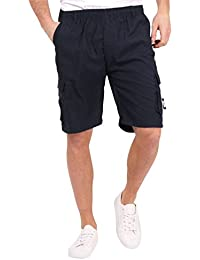 Mens Classic Cotton Big & Tall Relaxed Fit Multi Pocket Outdoor Cargo Shorts