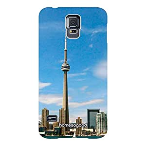 HomeSoGood The Toronto Tower Blue 3D Mobile Case For Samsung S5 ( Back Cover)