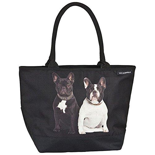 """VON LILIENFELD Shoppertasche zum Umhängen """"Französische Bulldoggen"""""""