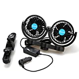 poraxy Car Fans,12V Electric Auto Cooling