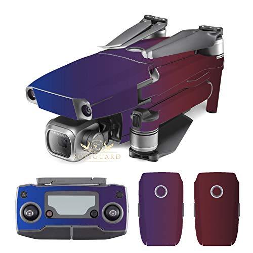 SopiGuard Avery Roaring Thunder Purple/Red Vinyl Sticker Skin for DJI Mavic 2 Pro/Zoom ()