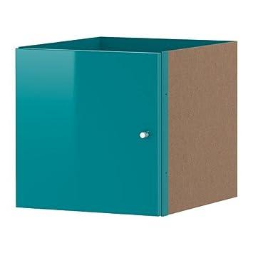 Ikea regal kallax einsatz  IKEA KALLAX Einsatz mit Tür in Hochglanz türkis; (33x33cm ...
