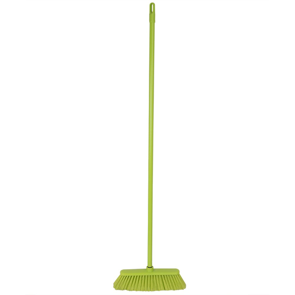 Home Basics Brights Collection Floor Cleaning Supplies (Green, Push Broom)