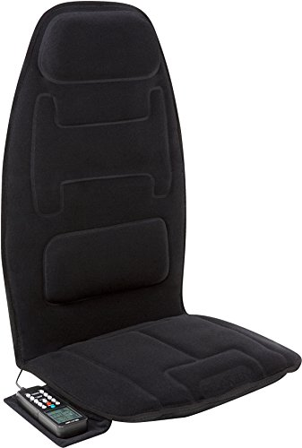 Need Lumbar Massage Cushion - Relaxzen 10-Motor Massage Seat Cushion with Heat and Extra Foam, Black
