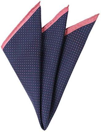 (ザ・スーツカンパニー) ドットプリント シルクポケットチーフ ネイビー×ピンク